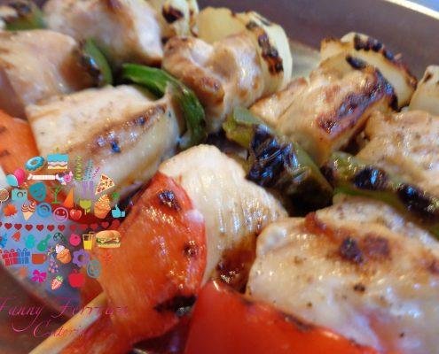 brochetas de pollo bocaditos salados fanny ferreira