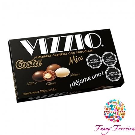 Almendras con chocolate VIZZIO MIX 120 gr.