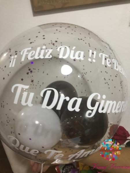 Gran globo personalizado de regalo Fanny Ferreira Catering