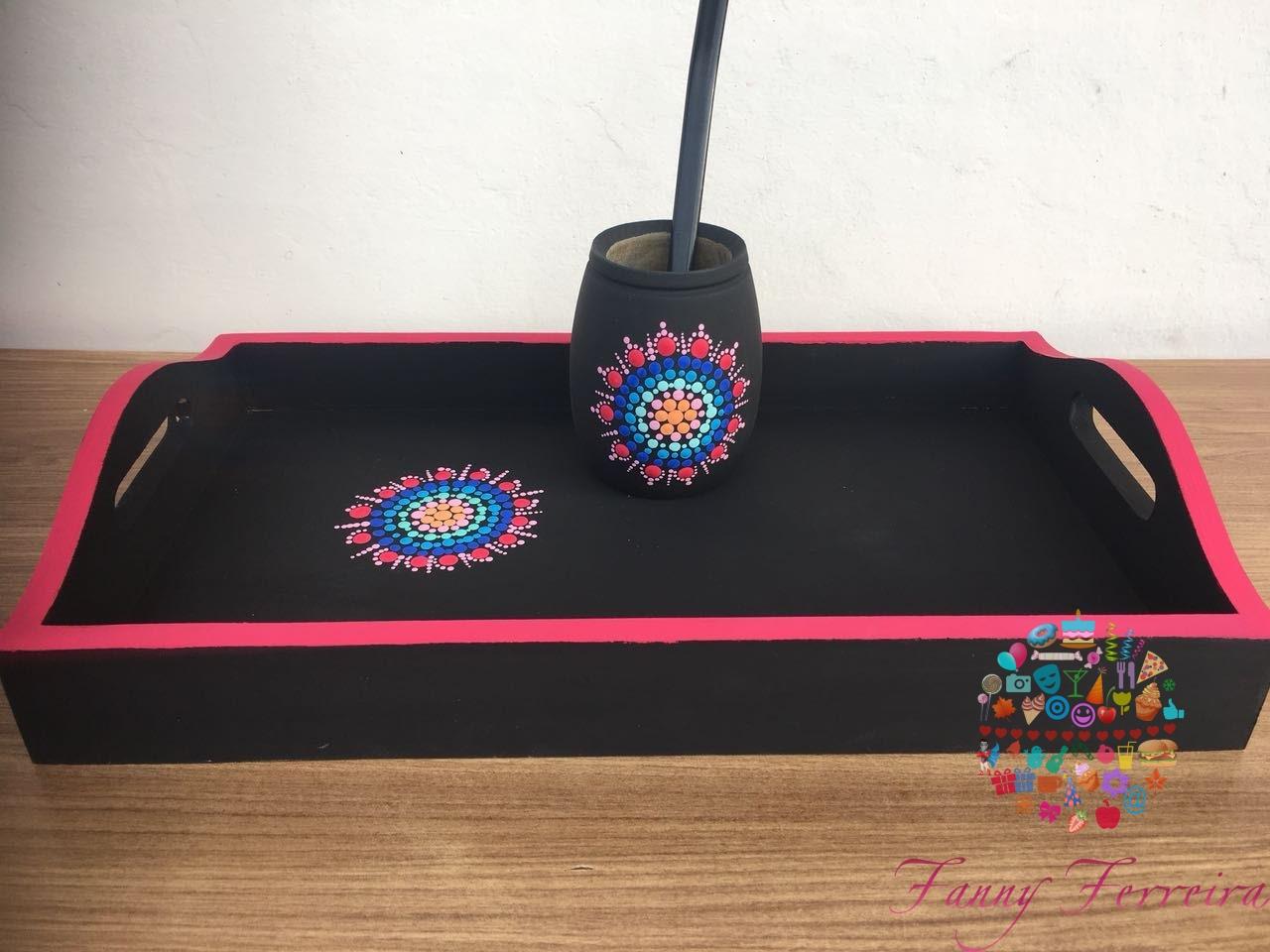 Bandeja, guampa y bombilla regalo personalizado