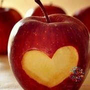 manzana amor san valentin Fanny Ferreira Catering